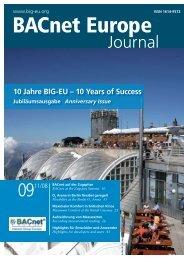 Zehn Jahre BIG-EU - BACnet
