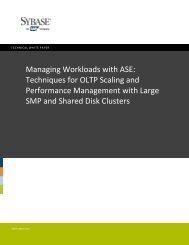 Managing DBMS Workloads v1.0 - Sybase