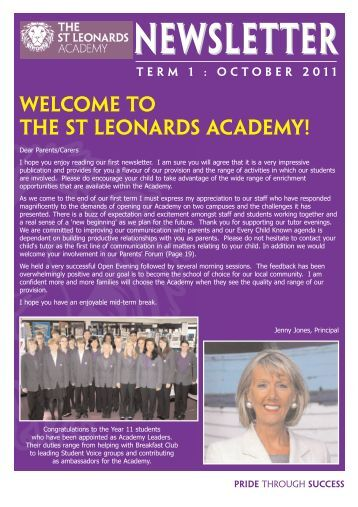term 1 october 2011.qxp - The St Leonards Academy