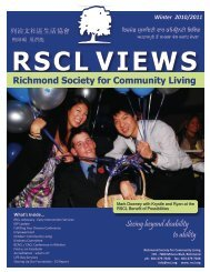 RSCL VIEWS Winter 2010/2011 - Richmond Society for Community ...