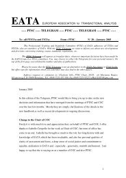 PTSC Telegram 20 - European Association for Transactional Analysis