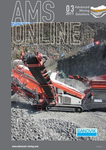 AMS-Online Ausgabe 03/2011 - Advanced Mining