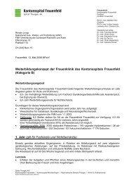 Weiterbildungskonzept der Frauenklinik des Kantonsspitals ... - FMH