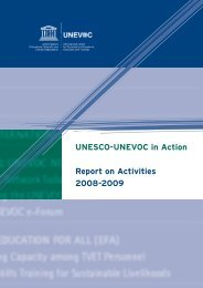 UNESCO-UNEVOC in Action Report on Activities 2008-2009