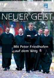 Mit Peter Friedhofen auf dem Weg - Barmherzige Brüder Trier e. V.