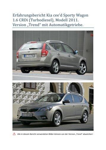 Erfahrungsbericht Kia cee'd Sporty Wagon 1.6 ... - Auto Stettler AG