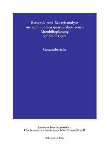Bestands- und Bedarfsanalyse zur kommunalen ... - Goch