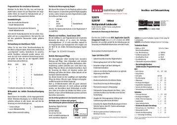 Anleitung zum Multiprotokoll-Lokdecoder SLX870 - MDVR