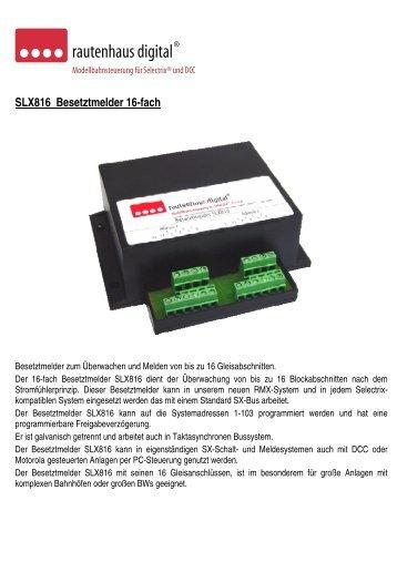 Anleitung zum 16-fach Gleisbesetztmelder mit integrierten ... - MDVR