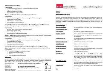 Anleitung zur Multifunktionsdekoder SLX812 - MDVR