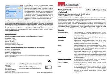 "RMX-PC-Zentrale 1.0 "" Professional"" - MDVR"