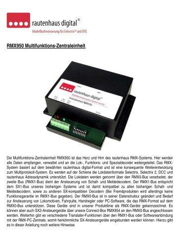 Anleitung zur Multifunktions-Zentrale RMX950 - MDVR