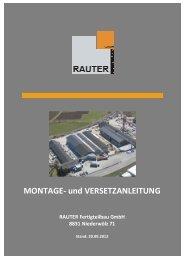 MONTAGE und VERSETZANLEITUNG.pdf - Rauter