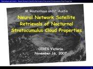 Satellite retrievals of optical depth and effective radius - Ceres