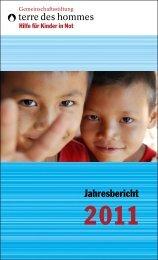 Jahresbericht 2011 als PDF-Dokument - Gemeinschaftsstiftung terre ...