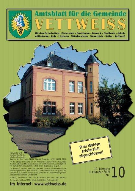 Oktober 2009 - Gemeinde Vettweiss