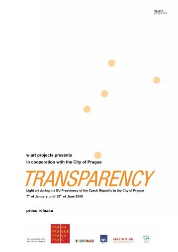 w.art projects presents in cooperation with the City of Prague press ...