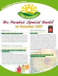 Bio Paradies Special Events November 2007 (501.3 KB