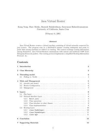 Java Virtual Router - University of California, Santa Cruz
