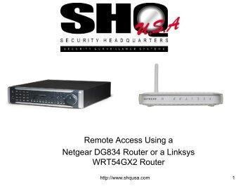 Remote Access Using a Netgear DG834 Router or a Linksys ...