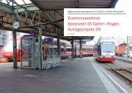 Durchmesserlinie Appenzell–St.Gallen–Trogen Auflageprojekt 09