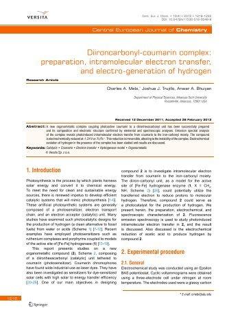 Diironcarbonyl-coumarin complex: preparation ... - Blogs