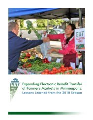 Expanding Electronic Benefit Transfer at Farmers Markets in - City of ...