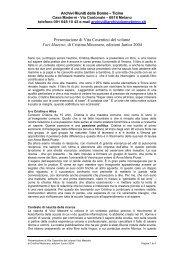 Presentazione di Vita Cosentino del volume Voci Maestre, di ...
