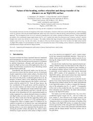 Nature of the bonding, surface relaxation and charge transfer of Au ...