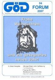 Goi)FORUM - GÖD Landesverband NRW