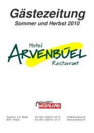 Gästezeitung Sommer und Herbst 2010 - Hotel Arvenbüel