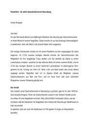 Rückblick - 25 Jahre Geschichtsverein Naumburg - Stadt Naumburg