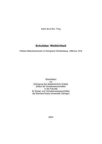 Schulidee: Weiblichkeit - TOBIAS-lib - Universität Tübingen