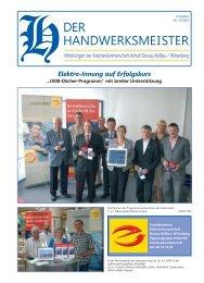 Der Handwerksmeister Ausgabe Nr. 4 1/2010