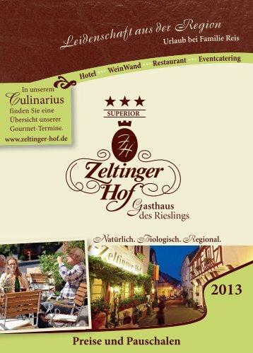 Preise als PDF-Datei - Hotel Zeltinger Hof
