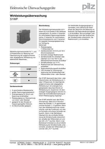 S1WP - Goering GmbH Maschinensicherheit