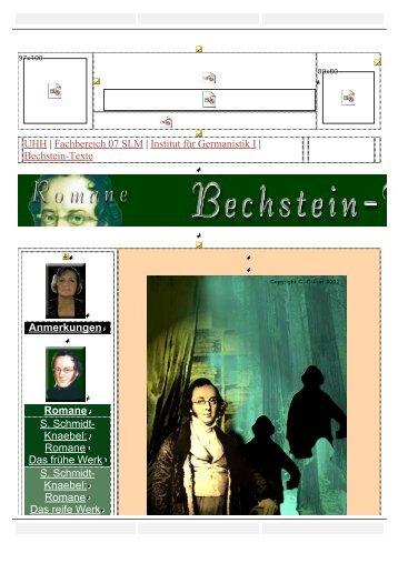 UHH | Fachbereich 07 SLM | Institut für Germanistik I | Bechstein ...
