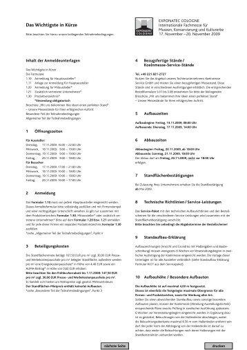 Anmeldung exponatec 2009 - Gesell & Co Messemarketing