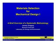 Materials Selection for Mechanical Design I