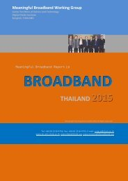 BROADBAND THAILAND 2015 - Digital Divide Institute