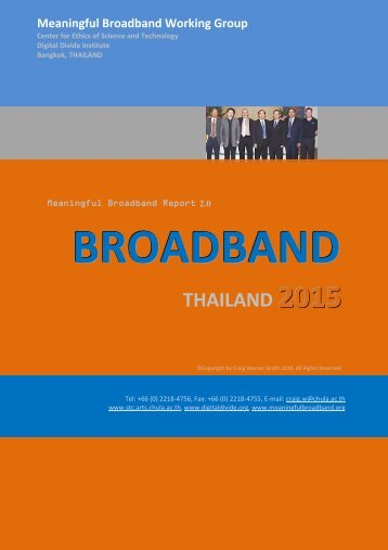 BROADBAND THAILAND 2015 - Digital Divide Institute