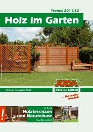 Holz im Garten - Joda