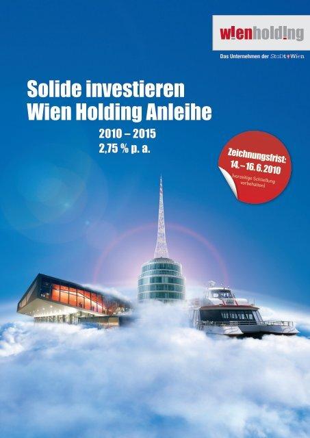 Solide investieren Wien Holding Anleihe