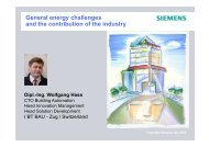 Global Energy Challenges and the Contribution of the - ESC