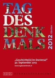 """Geschichte(n) im Denkmal"" 30. September 2012 - Tag des Denkmals"