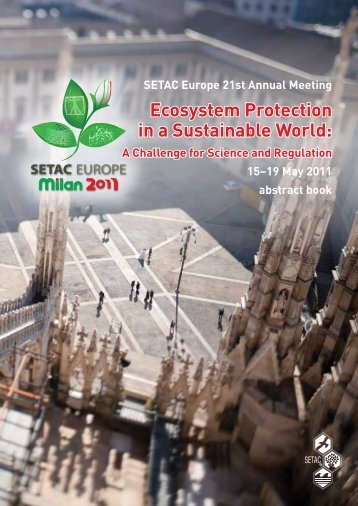 Abstract book - SETAC Europe 21st Annual Meeting