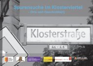 Spurensuche im Klosterviertel - Denk mal an Berlin