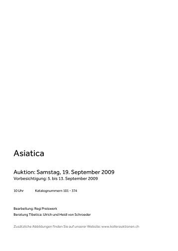 Asiatica - Koller Auktionen