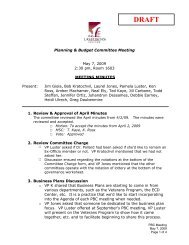 Planning & Budget Committee Meeting May 7, 2009 2 ... - Grapevine