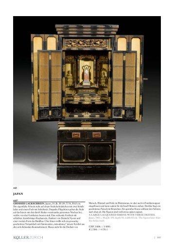 | 157 445* GROSSER LACKSCHREIN. Japan, 19 ... - Koller Auktionen